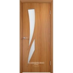 Дверь ламинированная,С-2, миланский орех, стекло матовое. Верда.