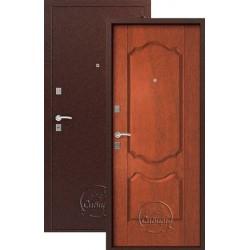 Дверь входная Сибирь S-1/1(медь-итал орех), 2 замка, сталь 1,0 мм.
