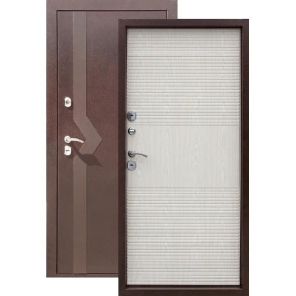 Дверь стальная Цитадель ISOTERMA (медь-белый дуб), 2 замка, сталь 1,5 мм.