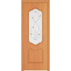 Дверь пвх, Орхидея, миланский орех, стекло матовое, Ростра.