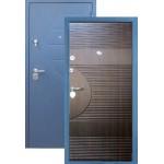 Дверь стальная Цитадель СОЧИ (сатин синий-венге), 2 замка, сталь 1,5 мм.