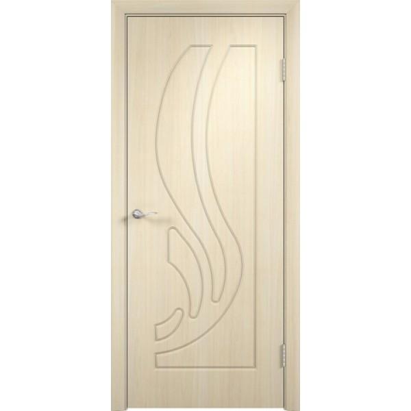 Дверь межкомнатная ЛИАНА, (ПВХ, беленый дуб),  ВЕРДА