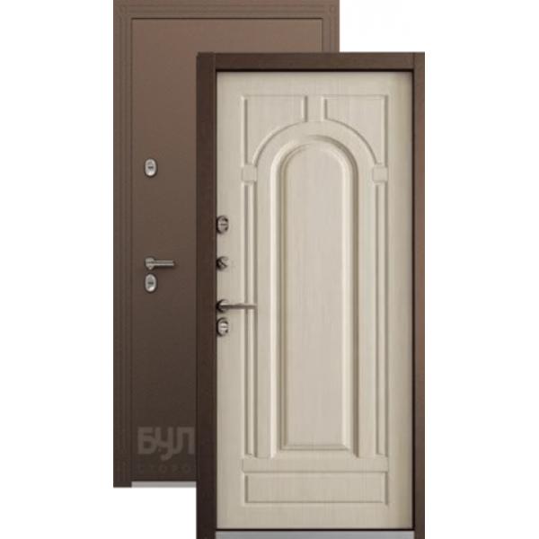 Дверь стальная Бульдорс Термо-1(медь - белый перламутр) 2 замка,сталь 1,5 мм.